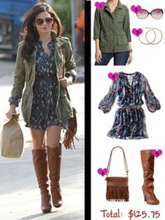 Jenna Dewan-Tatum& fall look for less Magazine Fall Winter Outfits, Autumn Winter Fashion, Spring Summer Fashion, Autumn Look, Fall Looks, Preppy Style, Style Me, Estilo Preppy, Dress With Boots