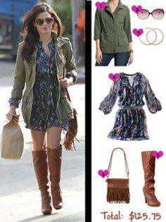 Jenna Dewan-Tatum& fall look for less Magazine Jenna Dewan, Spring Summer Fashion, Autumn Winter Fashion, Preppy Style, My Style, Estilo Preppy, Dress With Boots, Fall Looks, Fall Winter Outfits