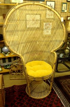 Design Itch: DESIGN FIND: Wicker Peacock Chairs
