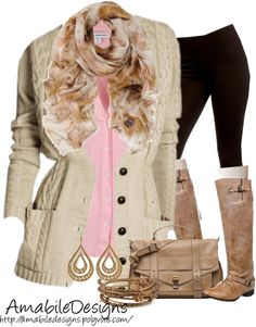 """""""Layers for Spring or Fall"""" by amabiledesigns on Polyvore"""