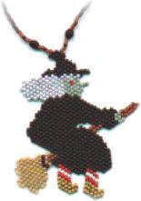 Beaded Witch pendant pattern at Sova-Enterprises.com