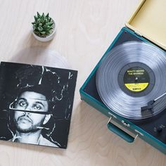 The Weeknd record with player Vinyl Music, Vinyl Records, Beauty Behind The Madness, Urban Outfitters Home, Music Express, Love Band, Happy Birthday Messages, Music Aesthetic, Record Players