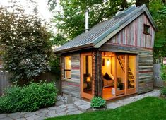 My cozy little cottage in the woods ~ yes please.