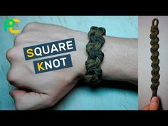 Square Knot Paracord Bracelet without buckle - YouTube