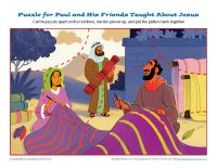 Acts 17:1-18:21; Paul Preached in Europe-Priscilla & Aquila Jigsaw Puzzle