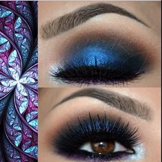 Smokey Eyes in Blue and Purple