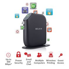 I found this amazing Belkin Share Max N300 300Mbps Wireless 4-Port Gigabit Gaming Router at nomorerack.com for 63% off. Sign up now and receive 10 dollars off your first purchase