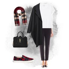 A fashion look from November 2014 featuring Monki t-shirts, MM6 Maison Martin Margiela coats and Liz Claiborne pants. Browse and shop related looks.