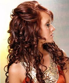 Feel Glamorous with a Long Curly Wedding Hairstyle