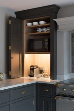 Many have started to wonder: are grey kitchen cabinets going out of style? Grey has remained a staple color in kitchen interior design for decades. Traditional Kitchen Cabinets, Modern Kitchen Cabinets, Kitchen Cabinet Design, Modern Kitchen Design, Kitchen Countertops, Kitchen Interior, Soapstone Kitchen, Kitchen Sinks, Dark Cabinets