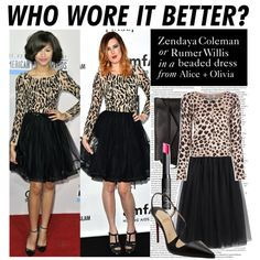 """""""Who Wore It Better: Rumer or Zendaya?"""" by polyvore-editorial ❤ liked on Polyvore"""