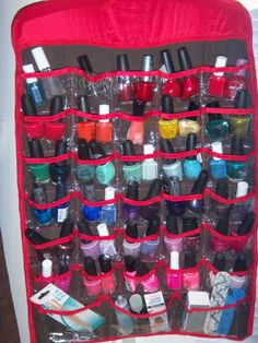Nail polish storage so you can actually see what you have