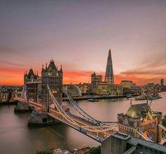 Beautiful London, beautiful Tower Bridge, beautiful evening, beautiful everything ♡♡