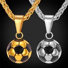 Cheap pendant with chain, Buy Quality gold plated directly from China gold chain pendant Suppliers: Kpop Sporty necklace football Pendant With Chain Stainless Steel Soccer Necklace Gold Color Men/Women sport ball Jewelry
