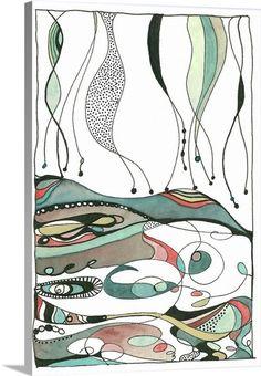 No Thinking Only Daydreaming ~ Canvas Wall Art by Designer Shell Rummel for #greatbigcanvas #shellrummel All artwork ©Michelle Rummel / Shellartistree LLC #wallart #canvas #interiordesign #homedecor 1