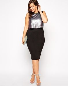 Browse online for the newest ASOS CURVE Exclusive Layered Dress With Sequins styles. Shop easier with ASOS' multiple payments and return options (Ts&Cs apply). Evening Dresses Plus Size, Plus Size Dresses, Plus Size Outfits, Nice Dresses, Asos Curve, Curvy Fashion, Plus Size Fashion, Pretty Outfits, Beautiful Outfits