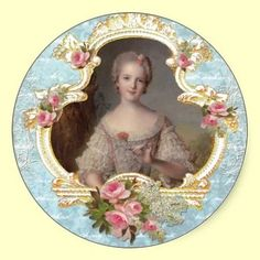 Shop Young Queen Marie Antoinette Pink Roses Cards created by lapapeteriedeParis. Deco Stickers, Custom Stickers, Marie Antoinette, Vintage Pictures, Vintage Images, Ambiance Sticker, Decoupage Paper, Vintage Cards, Vintage Prints