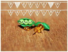 Vegetables Polymer Clay Stud Earring / di CreazioniKawaiiShop