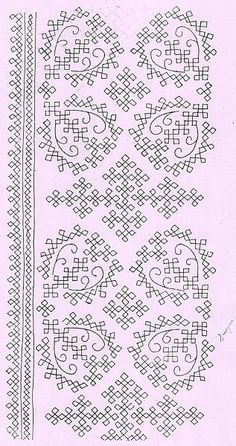 Embroidery Neck Designs, Hand Embroidery Videos, Hand Work Embroidery, Indian Embroidery, Hand Embroidery Patterns, Vintage Embroidery, Embroidery Stitches, Cross Stitch Designs, Stitch Patterns