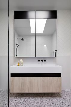 Modern Australian Homestead: Ceres Gable House by Tecture Bathroom Layout, Small Bathroom, Master Bathroom, Bathroom Ideas, Bathroom Organization, Bathroom Inspo, Basement Bathroom, Bathroom Interior, Bathroom Inspiration