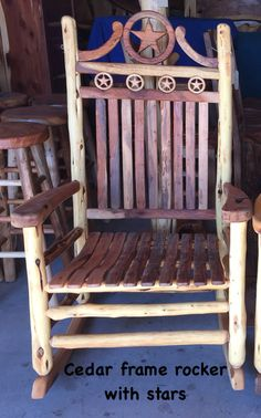 Handmade Rocking Chair From Texas Hill Country Furniture In Lipan, Tx