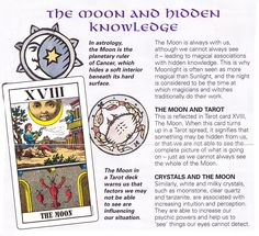 The moon and hidden knowledge