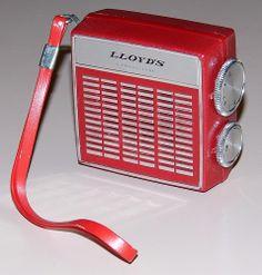 Vintage Lloyd's Semi Micro 6-Transistor Radio, Model 6K87D, Made In Japan.