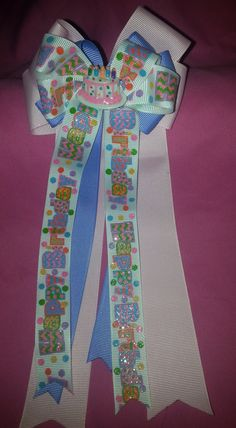 Happy Birthday Cheer Style Bow by GumpiegirlsGifts on Etsy