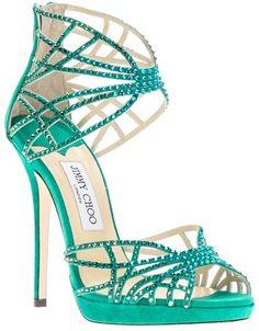 Jimmy Choo Diva Sandal Pump Teal shoes  www.finditforweddings.com