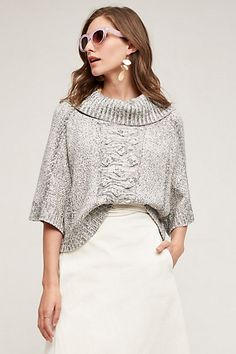 Cabled Cowl Pullover #anthropologie