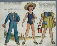 "Vintage Betsy McCall ""Goes to the Beach"" Paper Doll"