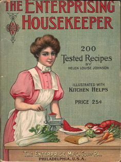 This website has a ton of old-fashioned recipes from vintage ads and cookbooks! The Enterprising Housekeeper - 200 Tested Recipes Retro Recipes, Old Recipes, Cookbook Recipes, Cooking Recipes, Homemade Cookbook, Cookbook Ideas, Cooking Fish, Cooking Pork, Cooking Games