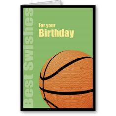 Happy Birthday, Best Swishes Basketball Card