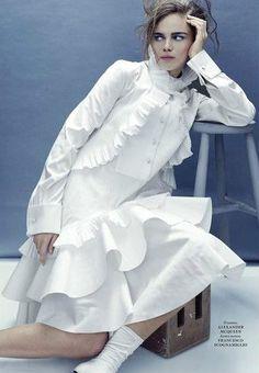 """In Black and White"" Jena Goldsack for L'Officiel - Alexander McQueen"