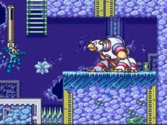 """Mega Man 7 Freeze Man's stage polar bear """"battle"""""""