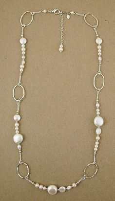 Sterling and white pearl necklace
