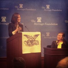 """Washington Conservatives"" Panel at Eagle Forum Collegians Conference 2014. Jackie Anderson, Senior Media Associate at the Heritage Foundation and Glyn Wright, Executive Director of Eagle Forum in Washington, D.C."