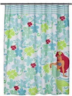 Disney Bathroom Shower Curtain 70x72 Fabric Ariel Little Mermaid Bath New NIP | eBay