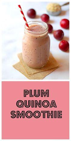 Gluten-free vegan plum quinoa smoothie. Recipe at turniptheoven.com