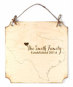Look at this #zulilyfind! State Family Personalized Hanging Sign by Morgann Hill Designs #zulilyfinds