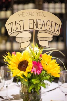 """Long Island proposal ideas with """"Just Engaged"""" signage by Mikkel Paige Photography. #mikkelpaige #justengaged #proposalideas #willyoumarryme #shesaidyes"""