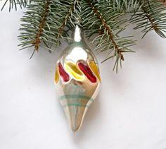 Christmas glass ornament,Antique Christmas ornament, Vintage Soviet 1950s Christmas/New Year, Christmas decor