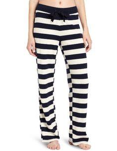 d806e59e74 Nautica Sleepwear Women s Waffle Striped Pant