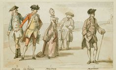 """""""On Windsor Terrace"""" by Paul Sandby (1760) in the Royal Collection Trust - From the curators' comments: """"The sketch shows fashionably-dressed figures on the North Terrace of Windsor Castle, which was open to the public in the eighteenth century as it is today."""""""
