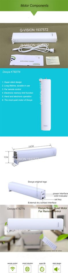 Original Dooya KT82TN Electric Curtain DC Motor Remote Control Automatic Curtain System Super Quiet 110-240V,50/60HZ Smart Home