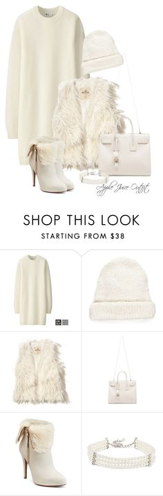 """""""outfit #363"""" by apple-juice-outfit ❤ liked on Polyvore featuring Uniqlo, Free People, Hollister Co., Yves Saint Laurent, Jennifer Lopez and Kenneth Jay Lane"""