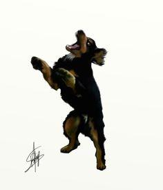 Digital illustration, wacom tablet.  tattoo design. #tattoo #digital #wacom #tablet #illustration #dog #pet #draw