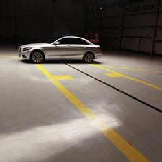 Here comes the bang. We've lined up an all-new C-Class for a demonstration of just how much safer it is.  #MBPhotoPass #Mercedes #Benz #CClass #sedan #BehindTheScenes #carsofinstagram #instacar #germancars #luxury #CA #California