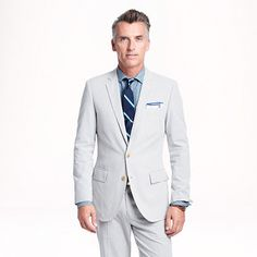 Ludlow white suit jacket by J. Crew