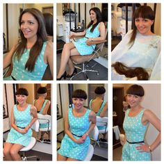 Makeover long hair to bowlcut